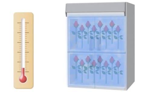 花の冷蔵庫