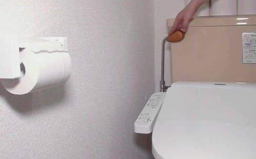 銅のトイレの水洗レバーのカバー