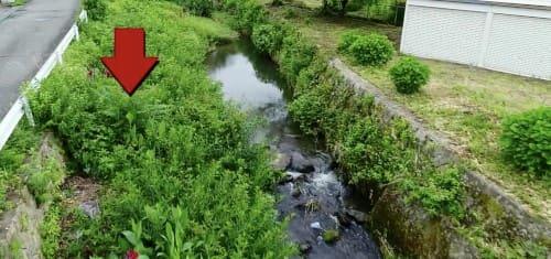 川の埋め立て
