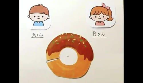 ドーナツを分ける