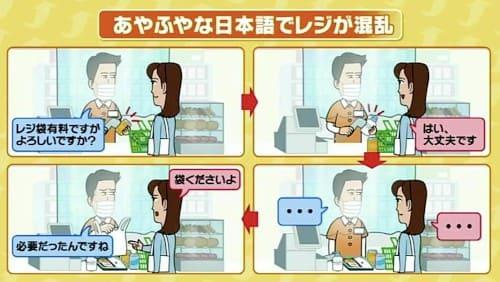 あやふやな日本語でレジが混乱