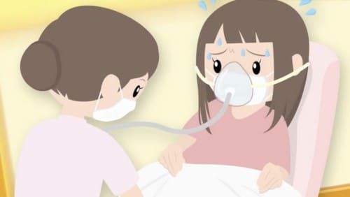 マスクの上から酸素マスク