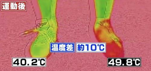 運動後の温度