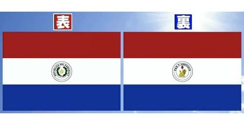 パラグアイの国旗の表裏
