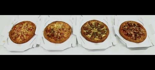 4枚のピザ