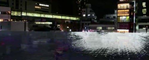 北千住駅前が浸水